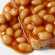 Baked Beans on Toast — Stock Photo