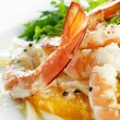 Shrimp Fennel and Orange Salad — Stock Photo