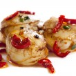 Chili Scallops - Stock Photo