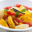 Citrus Fruit Dessert - Stock Photo