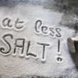 Foto Stock: Eat Less Salt
