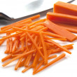Cutting Carrots — Stock Photo