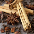 Royalty-Free Stock Photo: Cinnamon, Anise and Cloves