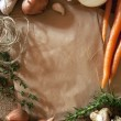Stock Photo: Rustic Food Background