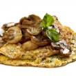 Mushroom Omelette - Stock Photo