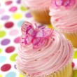 Cupcakes with Butterflies - Stock Photo