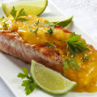 Salmon with Orange Sauce — Stock Photo