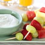 Постер, плакат: Fruit Skewers with Yogurt