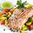 Salmon with Avocado Salsa — Stock Photo #5534545