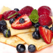Stock Photo: Berry Crepes