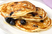Buttermilk Blueberry Pancakes — Stock Photo