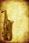 Grunge Saxophone — Stock Photo