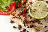 Fish and Salad — Stock Photo