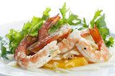 虾仁沙拉 — 图库照片