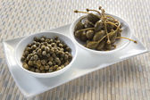 Capers and Caper Berries — Stock Photo