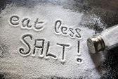ешьте меньше соли — Стоковое фото