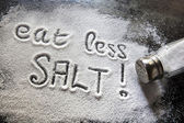 Eat Less Salt — 图库照片
