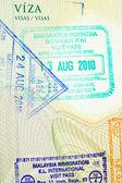 パスポートのスタンプ — ストック写真