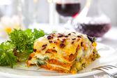Vegetarian Lasagne — Stock Photo