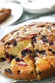 Apple and Blueberry Cake — Stock Photo