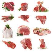 Bezuinigingen van rauw vlees — Stockfoto