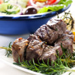 Lamb and Salad — Stock Photo