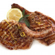 Grilled Pork Cutlets - Stock Photo