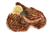 Grilled Pork Cutlets — Stock Photo