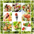 Healthy Salads Collage — Stock Photo