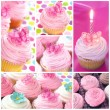Cupcake Collage - Stock Photo