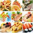 Seafood Collage — Foto de Stock