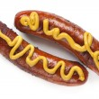Hot Dogs with Mustard — Stock Photo