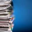 Stack of newspapers — Stock Photo #5493302