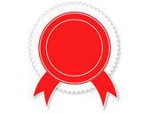 Rote abzeichen — Stockvektor