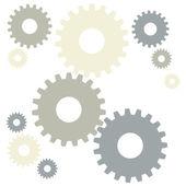 Grey gears — Stock Vector