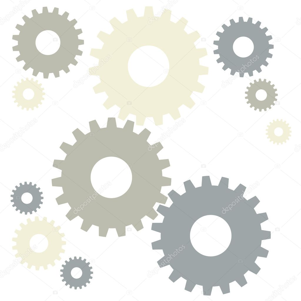 Grey gears — Stock Vector #6046794