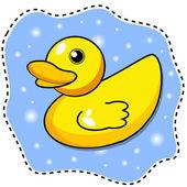 Cartoon yellow duck — Stock Vector