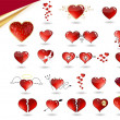 Collection of various hearts - Stock Photo