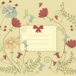 Vintage flower card — Stock vektor