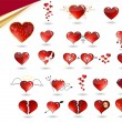 Stock Vector: Collection of various hearts