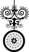 Black Color Decoration item — Stock Vector