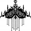 Royalty-Free Stock Imagen vectorial: Black Chandelier Graphic Pattern