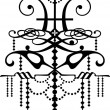 Black color chandelier design — Stockvectorbeeld