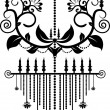Black color chandelier design — Image vectorielle