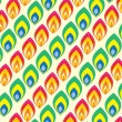 Royalty-Free Stock Векторное изображение: Colorful pattern wallpaper design