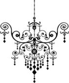 Black Chandelier Graphic Pattern — Stock Vector