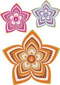 花模様の壁紙 — ストックベクタ