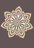 Flower pattern wallpaper design — Stock Vector