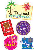 Travel sticker set — Stock Vector