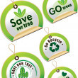 Stock Vector: Go green tag